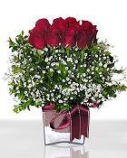 Polatlı Ankara çiçek , çiçekçi , çiçekçilik  11 adet gül mika yada cam - anneler günü seçimi -