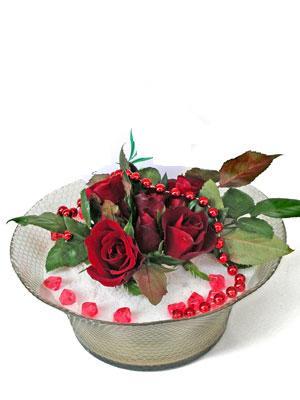 Polatlı çiçek siparişi vermek  EN ÇOK Sevenlere 7 adet kirmizi gül mika yada cam tanzim