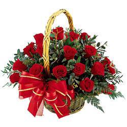 Polatlı çiçek siparişi vermek  11 adet kirmizi essiz gül sepeti - SEVENE ÖZEL
