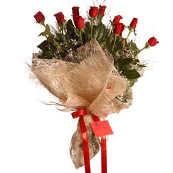 Polatlıdaki çiçekçiler çiçek servisi , çiçekçi adresleri  10 adet kırmızı gülden görsel buket