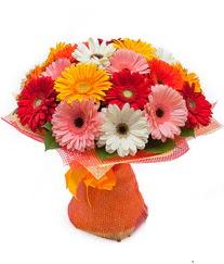 Renkli gerbera buketi  Polatlı anneler günü çiçek yolla