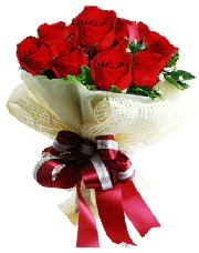 Görsel 12 adet kırmızı gül buketi  Ankara Polatlı online çiçek gönderme sipariş