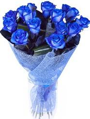 9 adet mavi gülden buket çiçeği  Polatlı Ankara hediye çiçek yolla