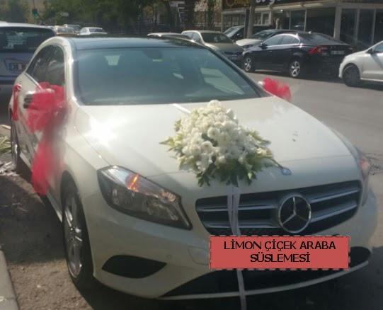 Araba süslemesi gelin arabası süsleme modeli  Polatlı çiçek satışı