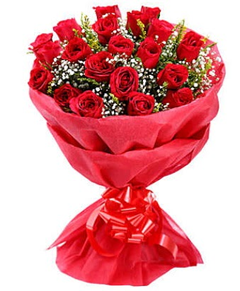 21 adet kırmızı gülden modern buket  Polatlıda çiçek firması çiçek gönderme