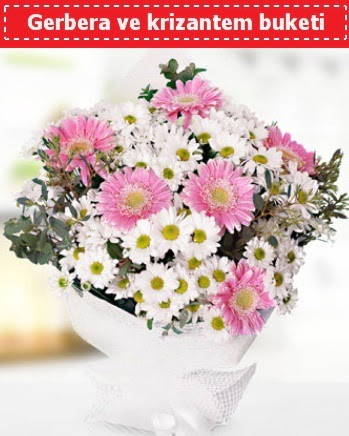 Papatya ve Gerbera Buketi  Polatlı Ankara çiçek , çiçekçi , çiçekçilik