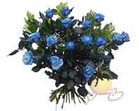 Polatlı Ankara çiçek , çiçekçi , çiçekçilik  11 adet mavi gül özel tanzim