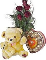Polatlı anneler günü çiçek yolla  7 gül oyuncak çikolata