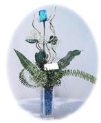 Polatlı çiçek online çiçek siparişi  Kalite mika yada cam vazo mavi gül tanzim