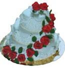 Polatlı anneler günü çiçek yolla  3 katli güllerle süslü pasta