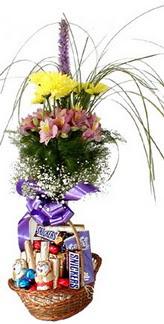 Polatlı hediye sevgilime hediye çiçek  Mevsim çiçekleri ve çikolata