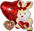 Polatlı cicek , cicekci  Çikolata tavsan ve balon
