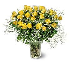 çiçek siparişi sitesi  15 adet sarigül mika yada cam vazoda