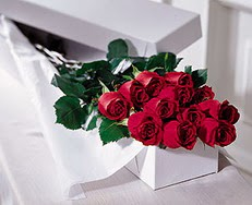 Polatlı çiçek satışı  özel kutuda 12 adet gül