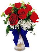 Polatlı internetten çiçek satışı  cam yada mika vazo içerisinde 7 adet gül