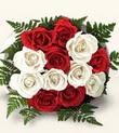 Polatlı Ankara çiçek , çiçekçi , çiçekçilik  10 adet kirmizi beyaz güller - anneler günü için ideal seçimdir -