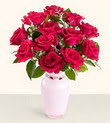Polatlı Ankara hediye çiçek yolla  10 kirmizi gül cam yada mika vazo tanzim