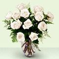 Polatlı anneler günü çiçek yolla  beyaz güller cam yada mika vazo