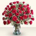 Polatlıdaki çiçekçiler  33 adet kirmizi gül cam yada mika vazoda