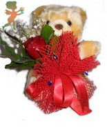 oyuncak ayi ve gül tanzim çiçek siparişi sitesi