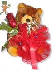 oyuncak ayi ve gül tanzim  Polatlıdaki çiçekçiler