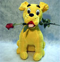 köpek ve agzinda  gül   Polatlı çiçek yolla , çiçek gönder , çiçekçi