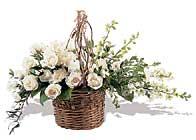 sepet içerinde beyaz güller    Polatlı anneler günü çiçek yolla