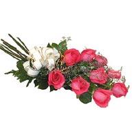 9 adet pembe renkte gül   Polatlı çiçek siparişi vermek