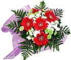 karisik gerbera ve kir çiçegi   Polatlıya çiçek Ankara çiçekçi telefonları