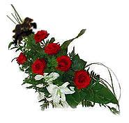 7 adet gül ve kazablanka   ucuz çiçek gönder