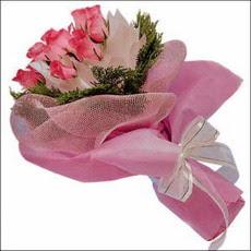 pembe güllerden buketler  Ankara Polatlı İnternetten çiçek siparişi