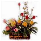 sepette karisik aranjman   Polatlı hediye sevgilime hediye çiçek