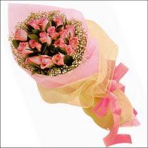 11 adet pembe güllerden   çiçekçi mağazası