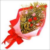 12 adet renkli  gül buketi   çiçekçi mağazası