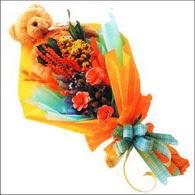 ayicik gül ve kir çiçekleri   çiçekçi mağazası