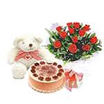 ayicik yaspasta ve gül   Polatlı çiçek gönderme sitemiz güvenlidir