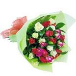 12 adet renkli gül buketi   Polatlı çiçek gönderme sitemiz güvenlidir