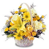sadece sari çiçek sepeti   Polatlı çiçek gönderme sitemiz güvenlidir