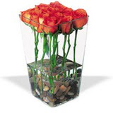 cam vazo içerisinde 11 gül   Polatlı çiçek gönderme sitemiz güvenlidir