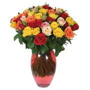 51 adet gül ve kaliteli vazo   Polatlı çiçek gönderme sitemiz güvenlidir