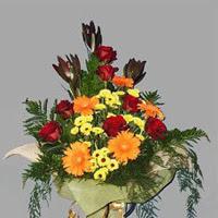 karisik güllerden buketlik   Polatlıda çiçek firması çiçek gönderme