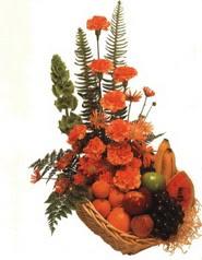 sepet kir çiçekleri meyva   Polatlıda çiçek firması çiçek gönderme