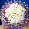 71 adet beyaz gül buketi   Polatlı Ankara çiçek , çiçekçi , çiçekçilik