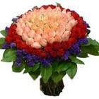 71 adet renkli gül buketi   ucuz çiçek gönder