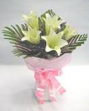3 adet lilyum çiçegi buketi   Polatlı Ankara çiçek , çiçekçi , çiçekçilik