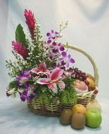 orkide kazablanka ve sepet  Ankara Polatlı çiçek yolla