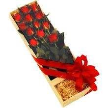 kutuda 12 adet kirmizi gül   Ankara Polatlı çiçek yolla