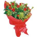 10 adet kirmizi gül buketi  Ankara Polatlı çiçek yolla