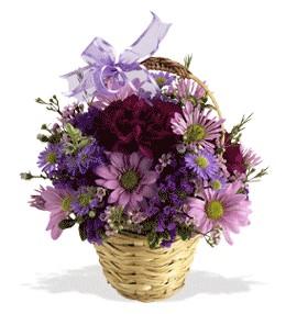 Polatlı uluslararası çiçek gönderme  sepet içerisinde krizantem çiçekleri