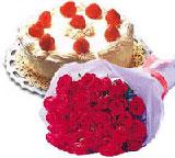 yaspasta ve 10 adet gül  Polatlı internetten çiçek satışı